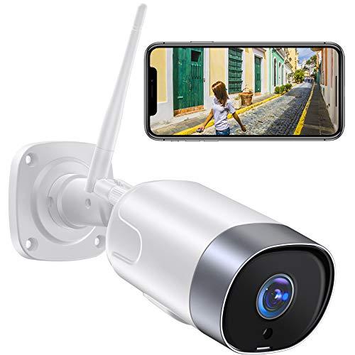 【2021 Aggiornato】Supereye FHD 1080P Telecamera IP Esterna,Telecamera di Sicurezza con Rilevazione Movimento e Audio Bidirezionale,IP66 Visione Notturna Impermeabile,compatibile con Alexa