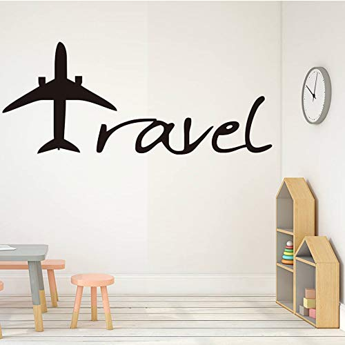 sanzangtang Vinyl rubber huisdecoratie militaire reizen vliegtuig muur sticker woonkamer holle bank achtergrond ontwerp