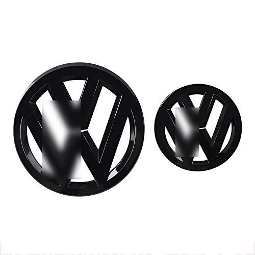 D28JD Logo-Emblem für Frontgrill/Heckklappe Heckklappen Stamm ABS Buchstaben Aufkleber für V-olkswagen Golf 6,Bright Black