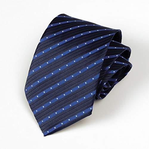 COLILI Herren Krawatte Business 8Cm Blau Rot KrawatteTrauzeugeHochzeit KrawatteSeide Streifen Halstuch Accessoires Geschenk