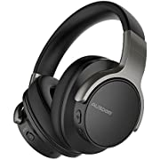 AUSDOM ANC8 Active Noise Cancelling Bluetooth Headphones, Wireless Over-Ear Headphones with Super HiFi Deep Bass, Built-in Microphone … (Non-ANC)