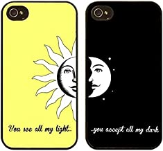 iPhone 8 / 7 Compatible, Designer Choice Collection Colorful Flexible Hard iPhone Case Cover - BFF Love You Are My Sun and Moon
