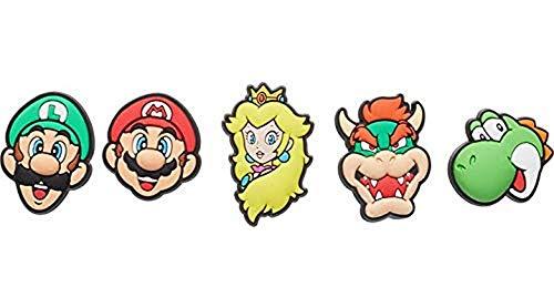crocs Unisex-Erwachsene Super Mario 5 Pack Schuhanhänger, Multicolor, Einheitsgröße