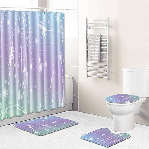 Ginsenget Privacy Protection Shower Curtains,100% Waterproof Anti Mildew Extra Long Shower Curtain,Tree hole