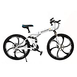 ✔ This urban mountain bike is ideal for city routes, smooth mountain trails or regular roads: a solid high carbon steel frame with superb welding technology makes it a strong and stable cruiser. ✔ Perfect choice for riders: suitable for riders of all...