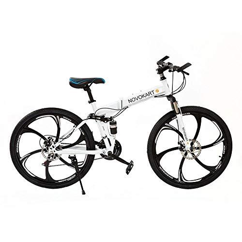 DOMDIL - Vélo de Montagne Pliable 24 Pouces, VTT pour Adoles