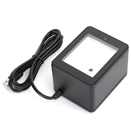 1D 2D Escáner de Código de Barras de Escritorio/Escáner de Código QR, Lector de Código de Barras de Manos Libres Omnidireccional USB, para Sistema POS, Tienda, Supermercado, etc.(YHD-9800)