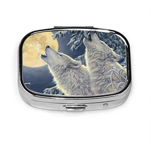 Caja de pastillas cuadrada de moda Bolsa de almacenamiento de medicinas Bolsillo o pastillero fácil de usar Bolsa de medicina Bolsa de almacenamiento Luz de luna