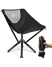 Kompaktowe krzesło ogrodowe w butelce | Ustaw w 5 sekund | Obsługuje 300 funtów | Stop aluminium klasy lotniczej, kompaktowe krzesło składane na zewnątrz, odpowiednie na kemping