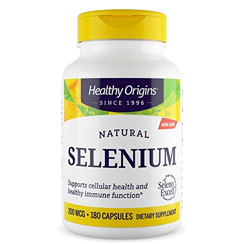 Healthy Origins Selenium Seleno Excel No Fillers 200 MCG, 180 Count, White