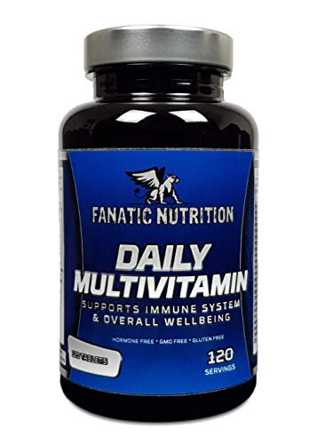Fanatic Nutrition Daily Multivitamin, 23 Vitamins and Minerals, 100% Recommended Daily Intake,120 Servings, 120 Tablets