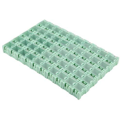 SMT-Aufbewahrungsboxen Set 50-teilige Aufbewahrungsbehälter SMD-Aufbewahrungsboxen Kunststoff mit transparenter Abdeckung Elektronische Komponenten Verschiedene Behälter