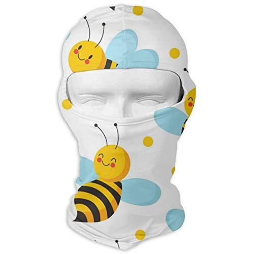 Sitear Bee Leuke Vliegende Bijen Voor Honing Gepersonaliseerde Volledige Gezichtsmasker Hood Nek Warm Voor Mannen En Vrouwen Outdoor Sport Windproof Zonnebrandcrème