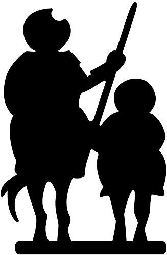Buntes Quichotte und Sancho schwarz