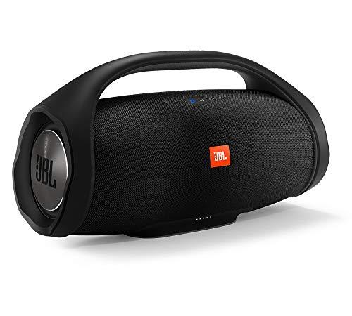 JBL Boombox in Schwarz, Wasserdichter Bluetooth-Lautsprecher mit integrierter Powerbank, Bis zu 24 Stunden Musikgenuss mit nur einer Akku-Ladung, Kabelloses Musikstreaming