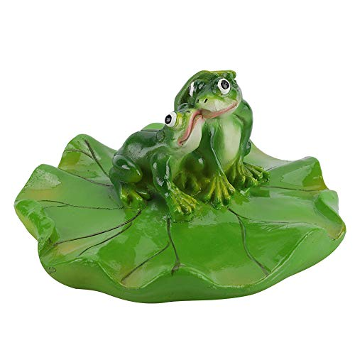 Animal flotante, lindo duradero flotante en juguetes de baño de agua resina sintética (marrón + verde)