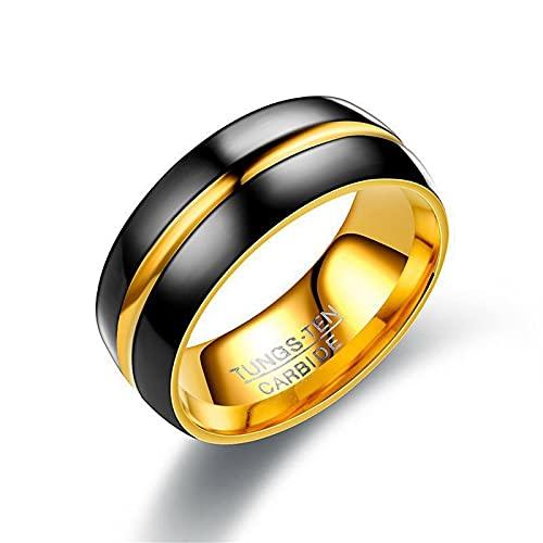 Aeici Anillos De Matrimonio Goteo De Aceite De 8 MM, Acero Inoxidable Joyeria para Hombres Mujeres (Talla 12)
