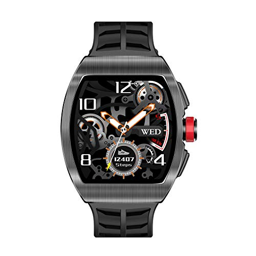 Prettyia Deportes Smart Watch Impermeable Bluetooth Call Fitness Tracker - Negro