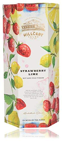 Strawberry Lime Hot and Tisane Herbal Tea (14 Teabags)