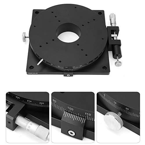 リニアステージ、SEMR160-AR手動回転マイクロメータートリミングプラットフォームスライドテーブルシングルガイドスライドトラックアルミニウム合金、精密位置決め、試験装置、移動、など160mm * 30mm