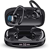 Wireless Running Earbuds Workout Earphones with Earhooks Bluetooth 5.0 in-Ear Sports Headphones with Charging Case Touch Control/HI-FI Stereo