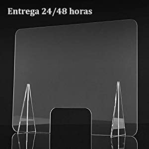 Mampara Metacrilato Plástico Transparente Barrera Protección Anticontagio. Mampara Protección para Mostrador, Farmacia,Comercios y Oficinas. ENVÍO Express (con Ranura Inferior, 150): Amazon.es: Hogar