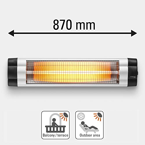TROTEC Infrarot-Heizkörper IR 2550S. Infrarot-Heizung für den Außenbereich, Terrasse, gleichmäßige Wärmeverteilung, spritzwassergeschützt, 3Heizstufen, Leistung bis zu 2500Watt, Infrarot-Fernbedienung - 3