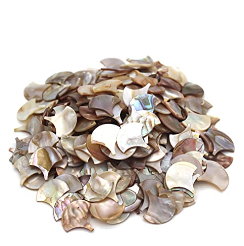 """Tueascallk 200 Pcs Fish Scale Shape Bulk Natural Mother of Pearl Mosaic Tiles, for Home Decoration and Handmade Crafts, 1"""" x 1"""""""