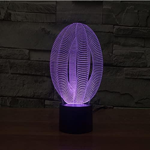 Yyhmkb Amanecer Precio Mesita Niños Proteccion Estudio Unica Mesa Círculo Bola 3D Luz Colorida Carga Táctil Led Luz Visual Regalo Celebración Lámpara De Mesa