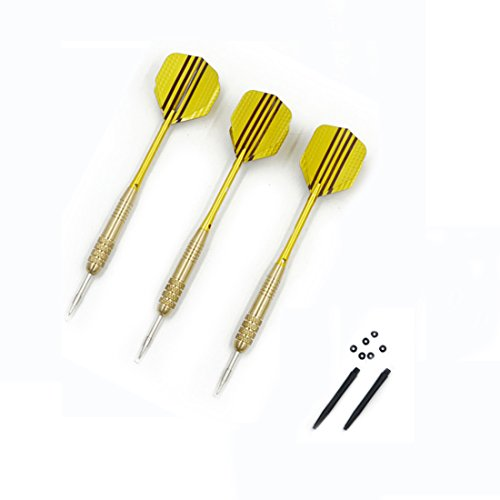 Why Should You Buy Angelakerry 42pcs(14set) of Steel Tip Gold Dart Copper with 3D Reflective Flights...