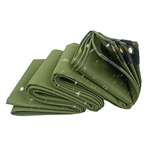 LJIANW-lonas impermeables exterior, Tarea Pesada Lonas 33 Mil Multiusos Al Aire Libre Impermeable Lienzo Reforzado Durable Rip-Stop con Ojales, 19 Tamaños (Color : Green, Size : 6X6M)