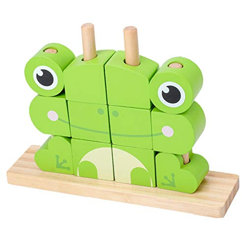 Sale!! Animals Building Blocks,Childrens Construction Wood Toy for 3-6 Year Old Boy Or Girl – Educational Toys (Size : A)