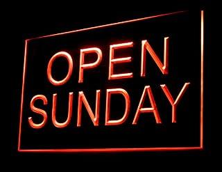 Open Sunday Store Shop Restaurant Led Light Sign