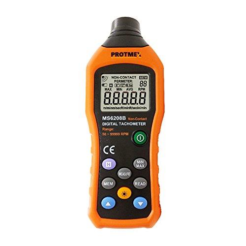 Protech ms6208b 50 - 250 mm senza contatto Tachimetro Digitale con misurazione 100 gruppi registrazione dei dati, data hold, max/min/AVG, retroilluminazione