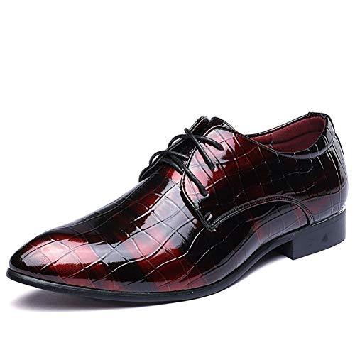 Zapatos de Negocios Formales para Hombres Patrón de cocodrilo Zapatos de Vestir...