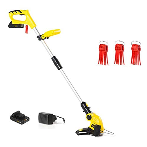 Great Price! Retractable Grass Trimmer & String Trimmer, 360° Adjustable Grass Cutting Head/Anti-Co...