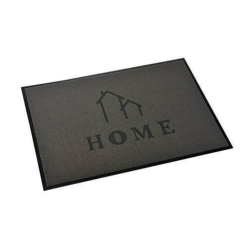 acerto Zanzibar Home House Fußmatte, waschbarer & Rutschfester Türvorleger, ohne PVC für innen und außen (70x50cm - grau)