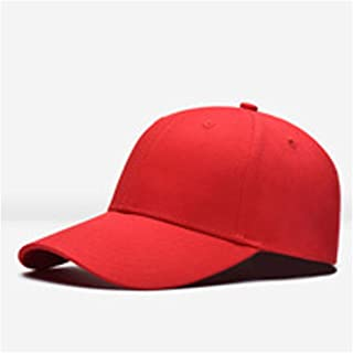 Baseball Hat Women Men Baseball Cap Snapback Hat Hip-Hop Adjustable Hats Fashion Accessories` TuanTuan (Color : Red, Size : 56-60CM)