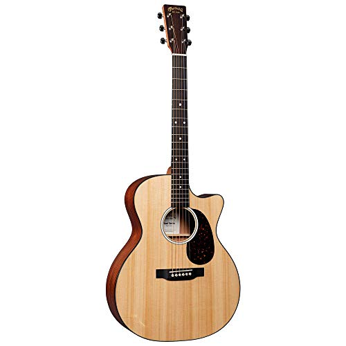 Martin Guitar Road Series GPC-11E Acoustic-Electric Guitar with Gig Bag, Sitka Spruce and Sapele Construction, GPC-14 Fret and Performing Artist Neck Shape with High-Performance Taper