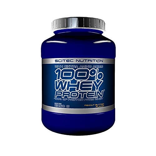 Scitec Nutrition 100% Whey Protein con aminoacidi extra, 2.35 kg, Burro d'Arachidi