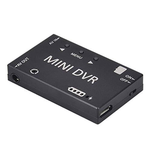 GEHOO GH Registrazione Video Mini DVR con Funzione di archiviazione Regolabile NTSC / Pal per Aircraft RC Drone Quadcopter (Nero)