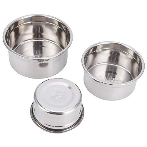 3 unids/set nevera caja de almacenamiento 304 acero inoxidable sellado fresco tazón con tapa contenedor de alimentos