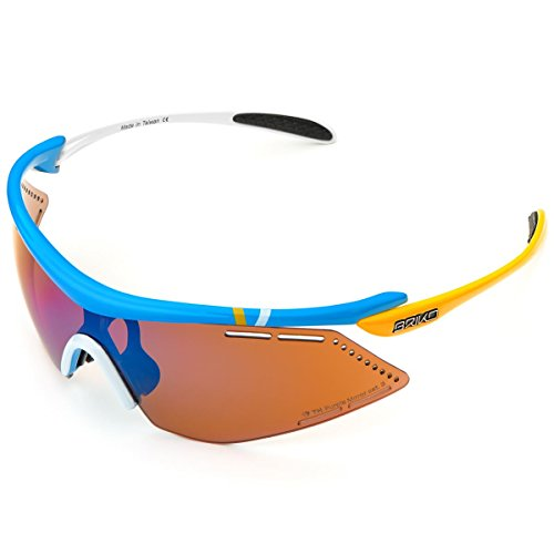 Briko Endure Pro Team 2 Lenses Gafas, Hombre, 952 Azul Wht Y