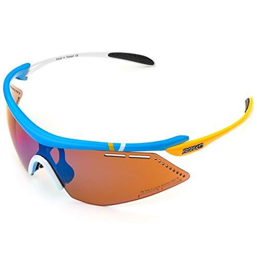 Briko Endure Pro Team 2 Brillen für Herren Einheitsgröße 952 Blue Wht YLW -Pm3p1