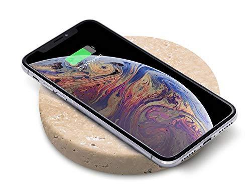 EINOVA Piedra de Carga Inalámbrica, Carga Inalámbrica Smartphones 10W para Dispositivos Qi iPhone 12/11/11 Pro/XS/XSMax/8/8 Plus/AirPods/AirPods Pro/Samsung Galaxy S20/S10/Galaxy S9/S9Plus, Tr