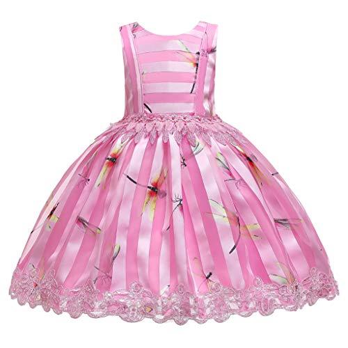 Robe de soirée Chic, Kolylong Costume Carnaval Fille Deguisement Princesse Robe Rose 110
