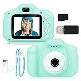 Miunana Cámara de Fotos para Niños con 32GB Tarjeta SD y Acollador, 2...