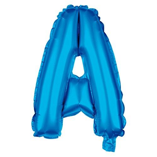 Folienballon Buchstabe XXL Blau 80cm Party Helium Luftballons Geburtstag Deko (Blau_A)