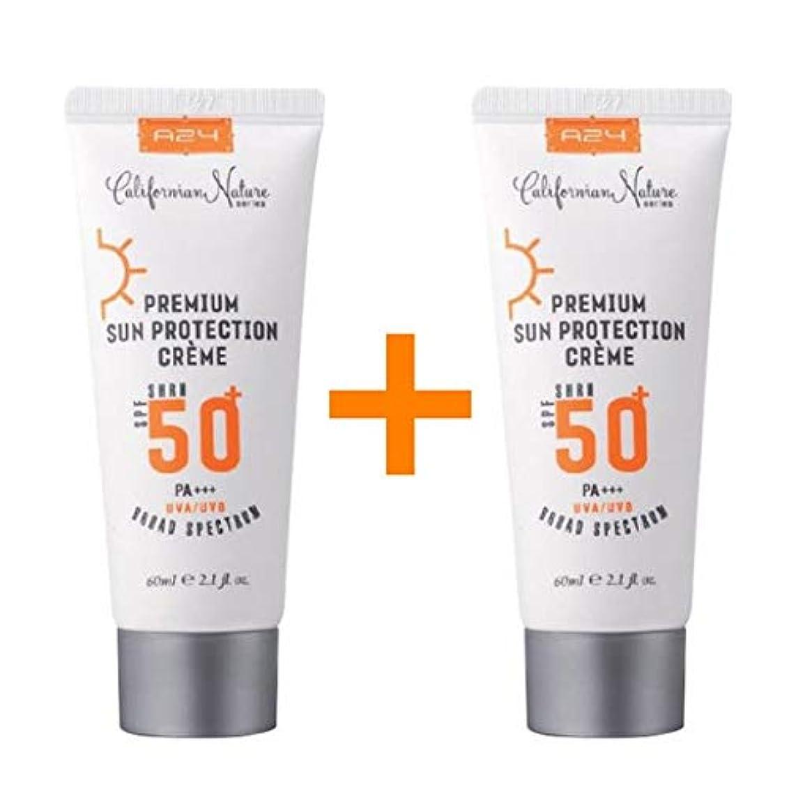 頂点道徳のスパイ[1 + 1 ] A24 プレミアム サン プロテクション クリーム 60ml (SPF50+/PA+++) / Premium Sun Protection Cream/米国コスメ 米国日焼け止め