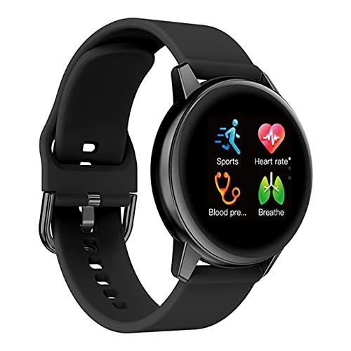 zyz R3 Ladies Smart Watch IP68 Impermeable, Ritmo cardíaco y monitoreo de la presión Arterial, Rastreador de Fitness, Reloj Deportivo para Hombres,Negro